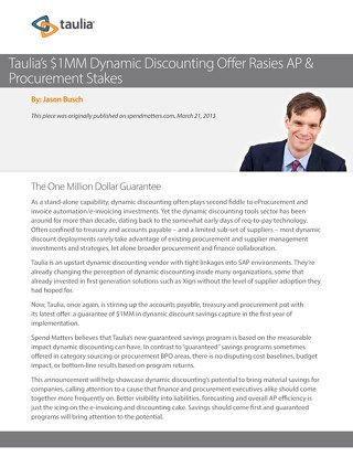 Article: Taulia's Million Dollar Guarantee
