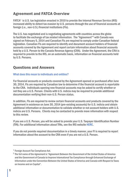 Clhia Accap An Overview Of Canada Us Enhanced Tax Information