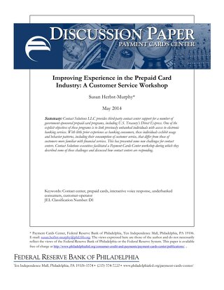 Philly Fed Discussion Paper - Payment Card Center