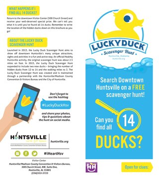 Lucky Duck Scavenger Hunt Clue Card