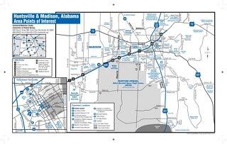 Huntsville/Madison County Points of Interest Map