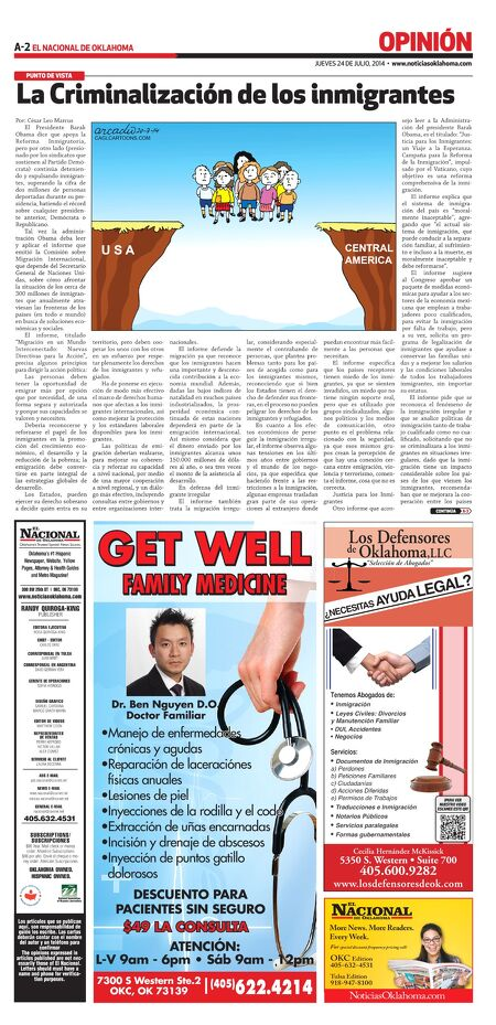 El Nacional de Oklahoma - July 24, 2014