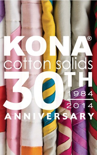 Kona Cotton Solids: 30th Anniversary 1984 - 2014