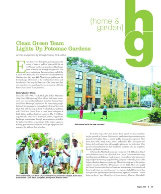 Clean Green in HillRag Magazine August-2014