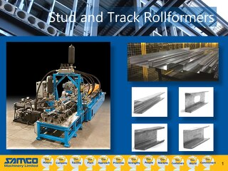Samco Machinery Stud and Track Presentation