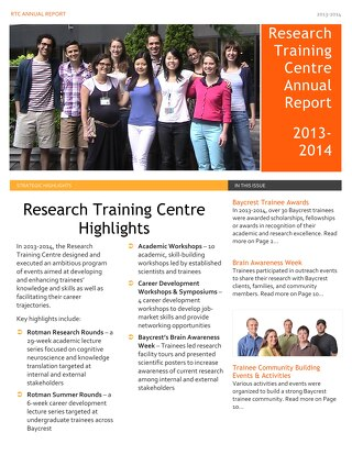 Research Training Centre Annual Report: 2013-2014