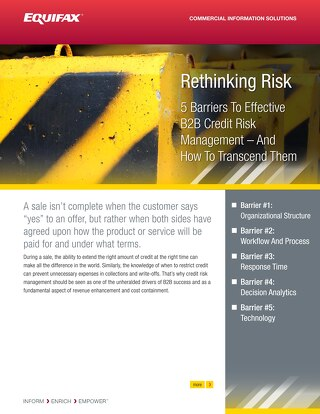 Rethinking Risk: 5 Barriers to Effective B2B Risk Management – And How to Transcend Them