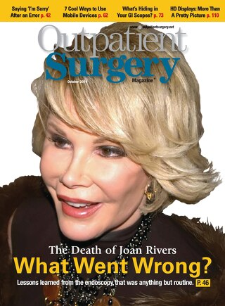 The Death of Joan Rivers: What Went Wrong? - October 2014 - Subscribe to Outpatient Surgery Magazine