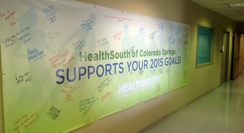 HealthSouth of Colorado Springs Goals Banner