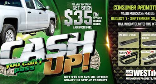 CASH UP! Step Promotion