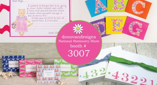 It's stationery time! #nss #donovandesigns #booth3007...