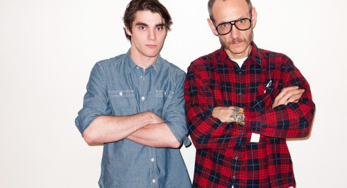 terrysdiary:  Me and RJ Mitte at my studio #1