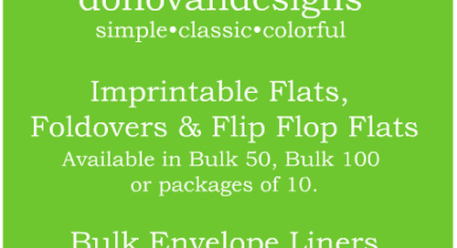 Browse donovandesigns imprintable flats, foldovers & flip...