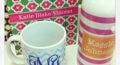 Monogram Monday: dd goodies! {personalized mug, water bottle...