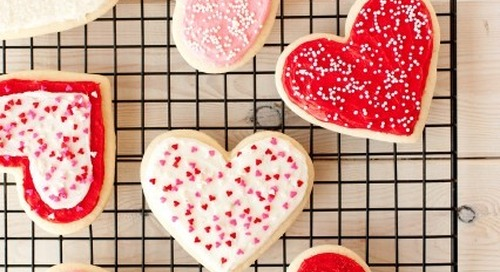 Another snow day? Bake some Valentine's cut-out cookies...