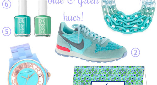 The cure for a cloudy day: dreamy blue and green hues….19...