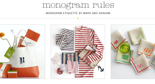 Love monogram 101 from Mark & Graham! http://bit.ly/17F3SqI