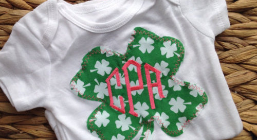 Monogram Monday meets St. Patrick's Day: A lucky little...