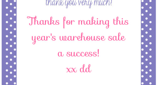 Thanks to all who made this year's annual Warehouse Sale a...