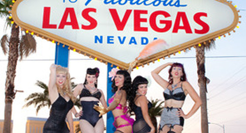 The Burlesque Beauties from LA shot in Vegas during Art and Ink.