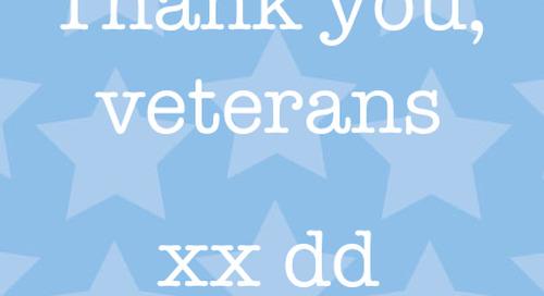 Thank you, veterans. xx dd