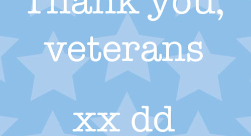 Thank you, veterans. xx dd