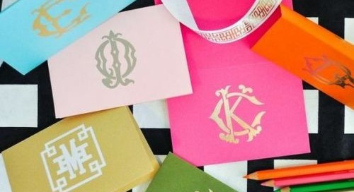 Monogram Monday: Bold color and gorgeous designs byEmily...