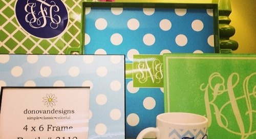 Our monogram goodies on display at Pinney Kelly Paper || Happy...