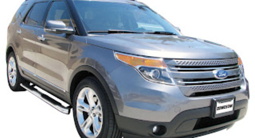 """Platinum 4"""" Oval Tube Step Bar - 2011-12 Ford Explorer Available Now!"""