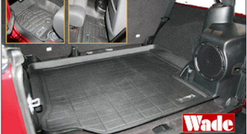 Front, 2nd Row and Cargo Area Sure-Fit Mats for Jeep Wrangler