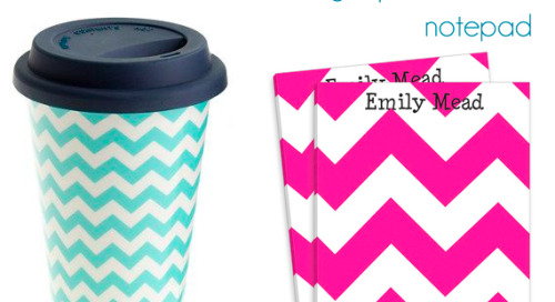 Gifts for the chevron lover: J.crew ceramic travel mug:...