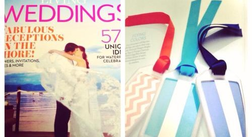 dd in the press: coastal living weddings featured our bag tags!