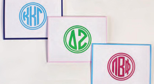 Happy monogram monday! Have you seen our new greek monogram...