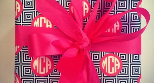 Monogram wrap! Too cute!