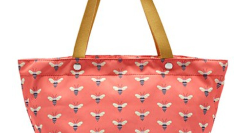 Pattern inspiration for you bee lovers! {Fossil tote available...
