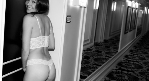 @xoxocassielaine - hotel hallway. See more at striplvgirls.com