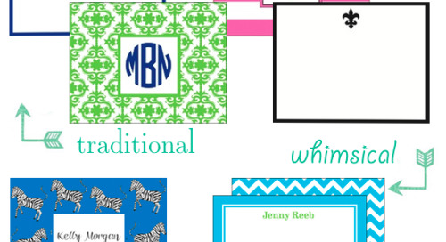 What's your stationery style? Whether traditional or...
