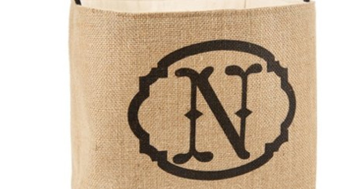 Happy monogram monday! Shop some darling initial burlap...