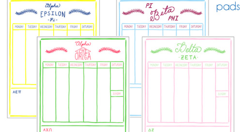 Our sorority weekly schedule pads…equal parts adorable +...