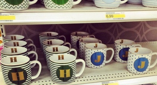 Happiness is…spotting these cute mugs at target!