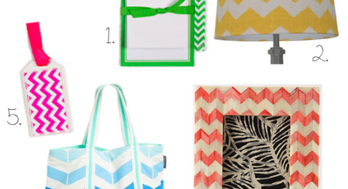 Our love affair with chevron continues (so much so that...