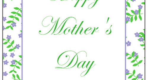 A very happy mother's day to all of moms out there! XO