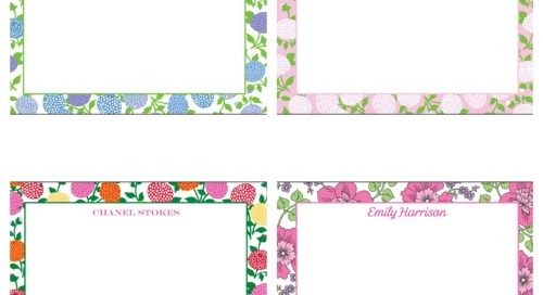 Introducing NEW floral border personalized flat...