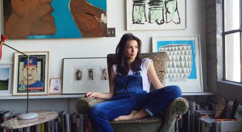 tresbongout:Emily Ratajkowski in her L.A. home