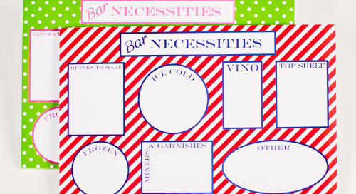 Getting organized for the 4th? Our Bar Necessities notepads have...