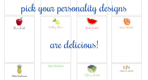 Our *new* pick your personality designs are delicious! Browse...
