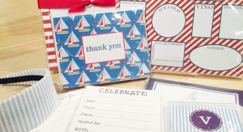 Fourth of July essentials: red, white, blue, stripes, sailboats,...