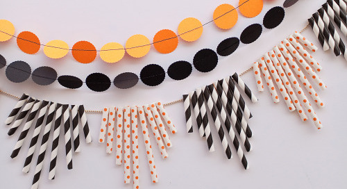 Feeling crafty? We love this paper straw garland from Tell Love...