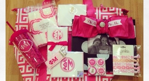 Lots of dd goodies in these adorable bid day bags by The...