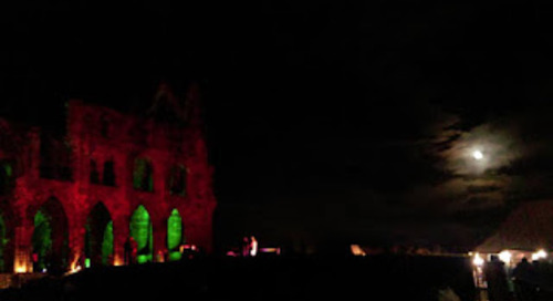 Spectacular light display at Whitby Abbey